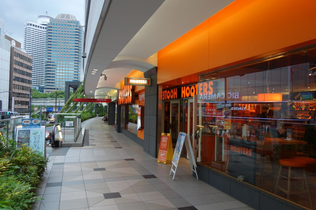 フーターズの赤坂店