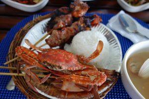 ナルスアン島のフィリピン風BBQ