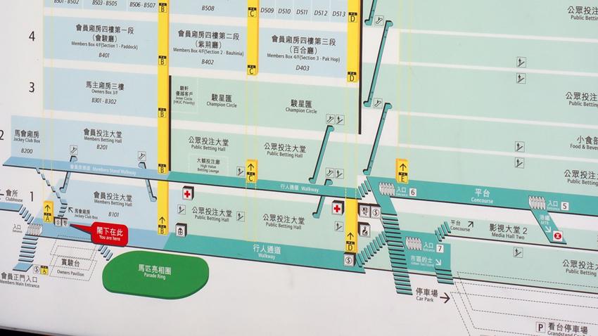 向かって右側がグランドスタンド2 左側がグランドスタンド3
