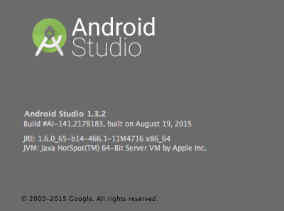 androidstudioversion