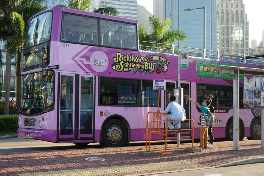 放浪記 香港 Rickshaw Sightheeing bus (リキシャ 力車 観光バス)