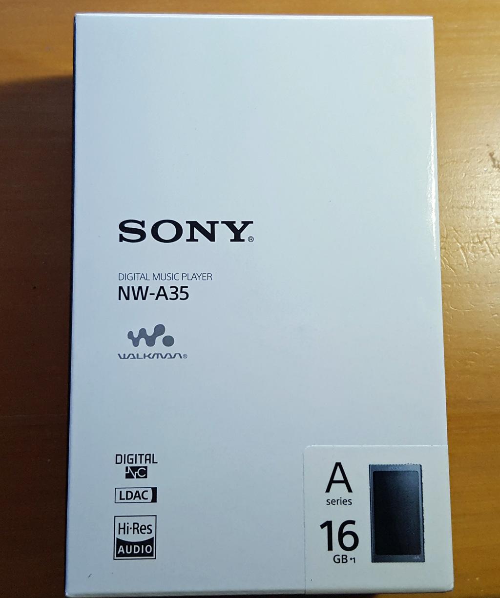 SONY NW-A35外箱