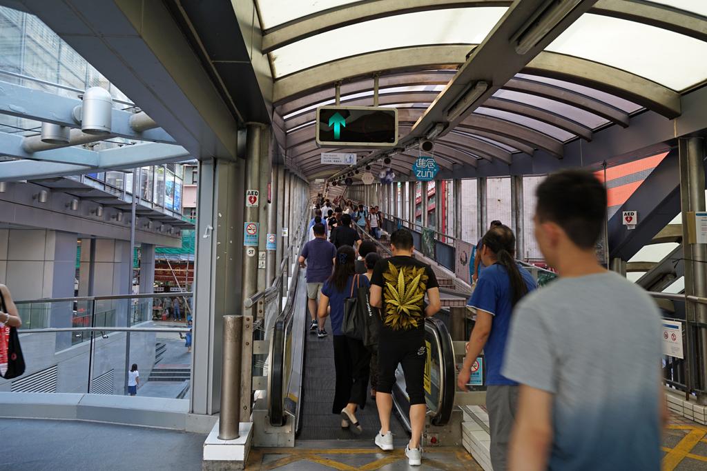 ヒルサイドエスカレーター香港